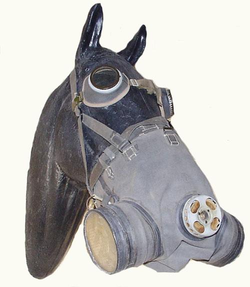 Я надеюсь, что нам никогда не придется не только надевать противогазы на лошадей, но и ходить...